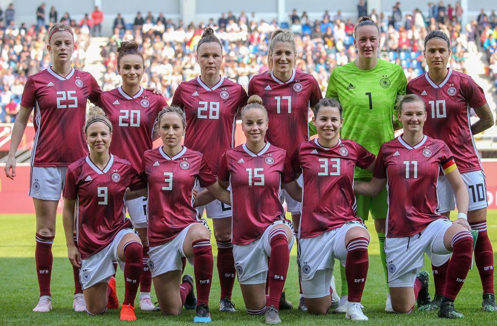 Die deutsche Fußball-Nationalmannschaft der Frauen. Foto: Baumann