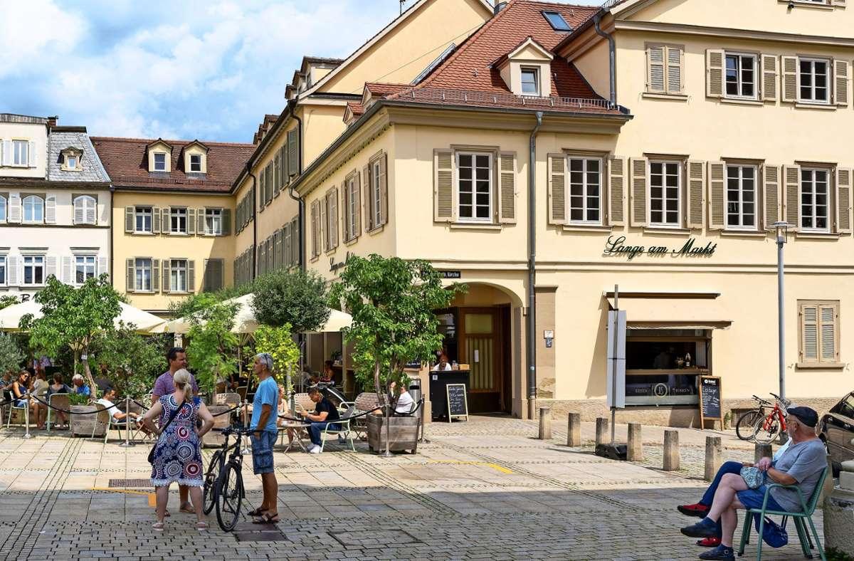 Das älteste Haus am Marktplatz – erbaut von einem Vaihinger. Foto: factum/Jürgen Bach