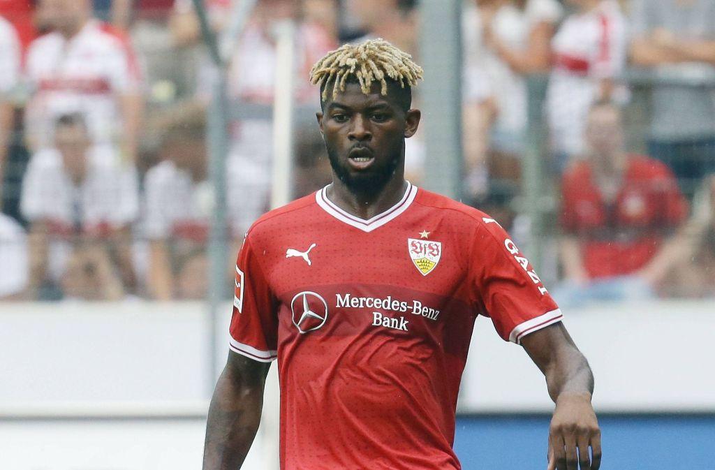 Drei-Millionen-Einkauf Jérôme Onguéné ist bislang ohne Pflichtspieleinsatz für die Profis des VfB Stuttgart. Foto: Baumann