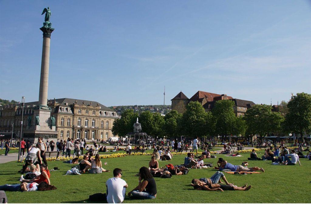 Am Wochenende können wir uns in Stuttgart wieder über sommerliche Temperaturen freuen. Bis zu 30 Grad sind möglich. Foto: Andreas Rosar