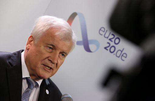 Horst Seehofer sieht EU in der Pflicht
