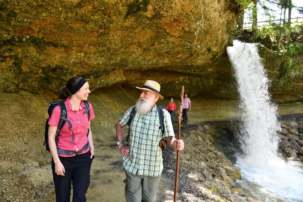 Bayerns schönste Naturgeotope - Scheidegger Wasserfälle  Foto: Scheidegg-Tourismus