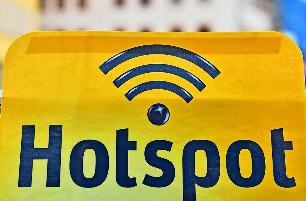 Der leistungsfähigste  Hotspot in unserem Test ist der in Bernhausen. Aber die beiden Hotspots in Waldenbuch sind nur unwesentlich langsamer. Foto: dpa