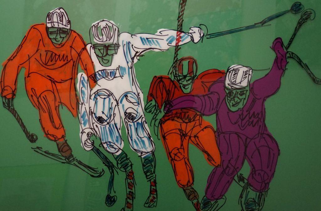 In Fellbach sind Sportbilder des Künstlers Jo Hinko zu sehen. Foto: Veranstalter