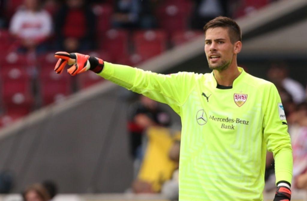 Der VfB Stuttgart bangt vor dem Heimspiel gegen den FC Augsburg um den Einsatz von Torhüter Thorsten Kirschbaum. Foto: Pressefoto Baumann