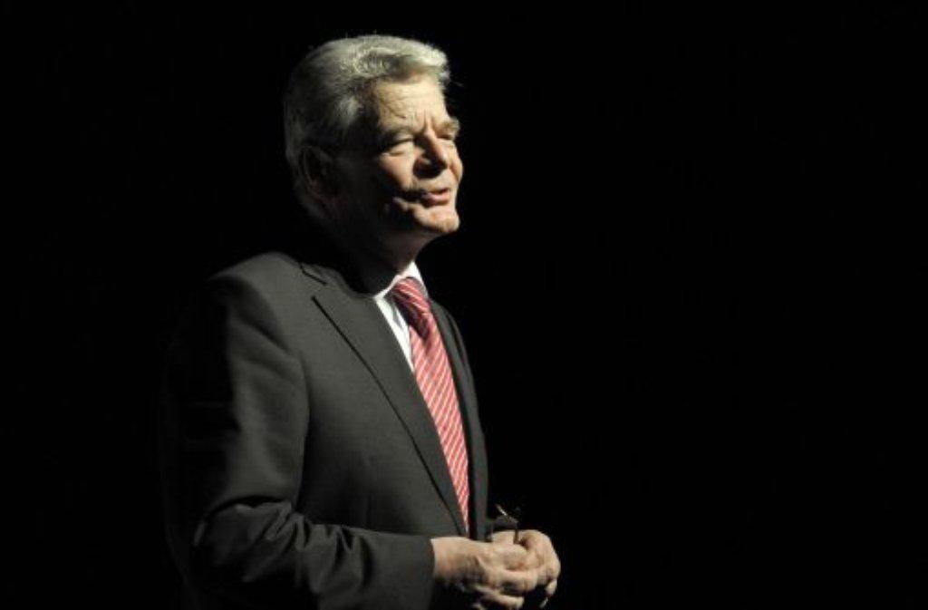 Bundespräsident Joachim Gauck Foto: dapd