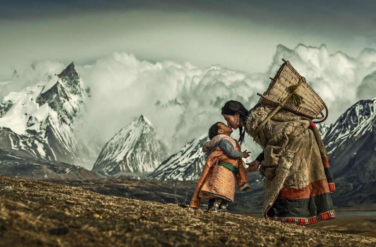 """Fotografien aus China: """"My Baby"""" von Li Hongzhi, ausgestellt in Filderstadt Foto: Shangtuf/Hongzhi"""