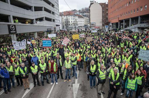 Diesel-Demo: Teilnehmerzahl wird geschätzt