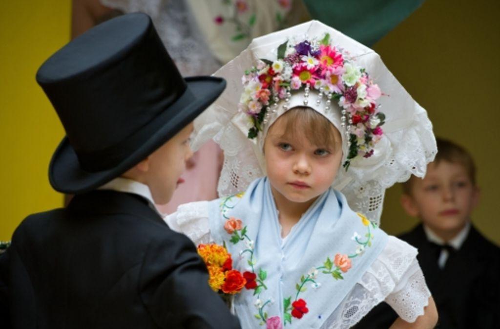 So geht also heiraten. Und was machen die Leute dann miteinander? Foto: dpa