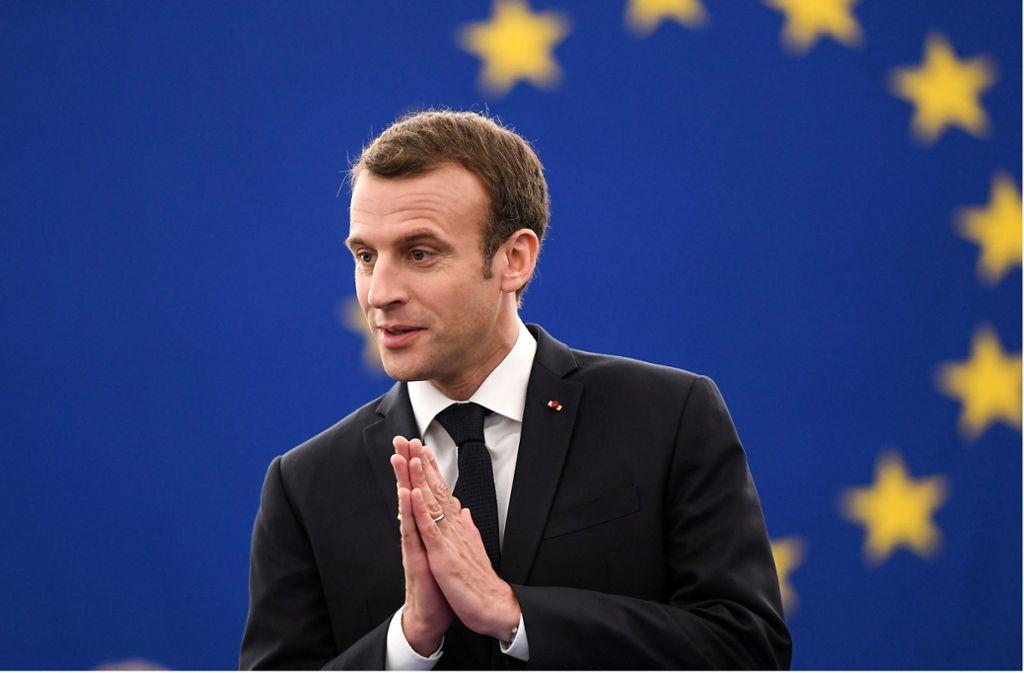 """Für viele der  Vertreter des """"wahren Frankreichs"""": Emmanuel Macron. Foto: AFP"""