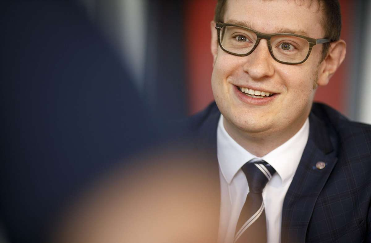 Maximilian Friedrich will OB in Backnang werden. Foto: Gottfried Stoppel