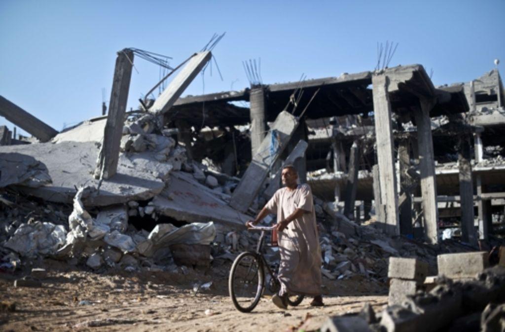 Die Menschen im Gazastreifen bleiben vorerst von weiteren Angriffen verschont. Foto: AFP