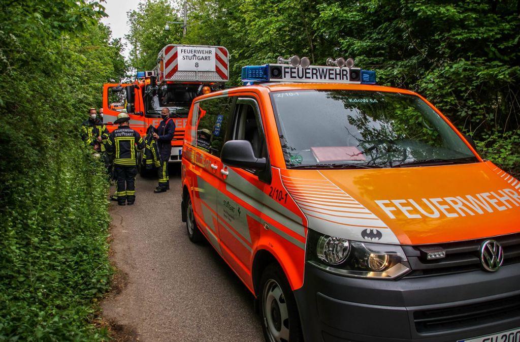 Die Feuerwehr war ebenfalls am Ort des Geschehens in Stuttgart-West. Foto: 7aktuell.de/Andreas Werner