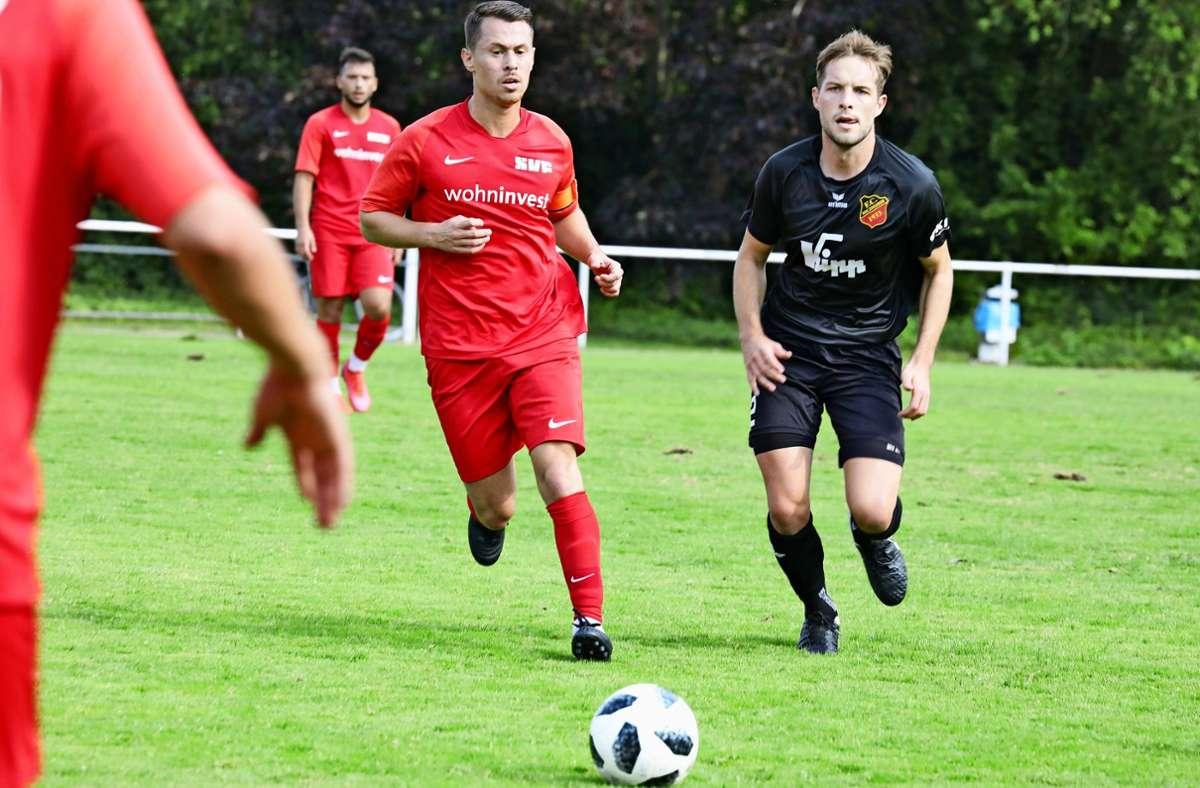 Koray Yildiz (links) will mit dem SV Fellbach auch in Wangen gewinnen. Foto: Patricia Sigerist