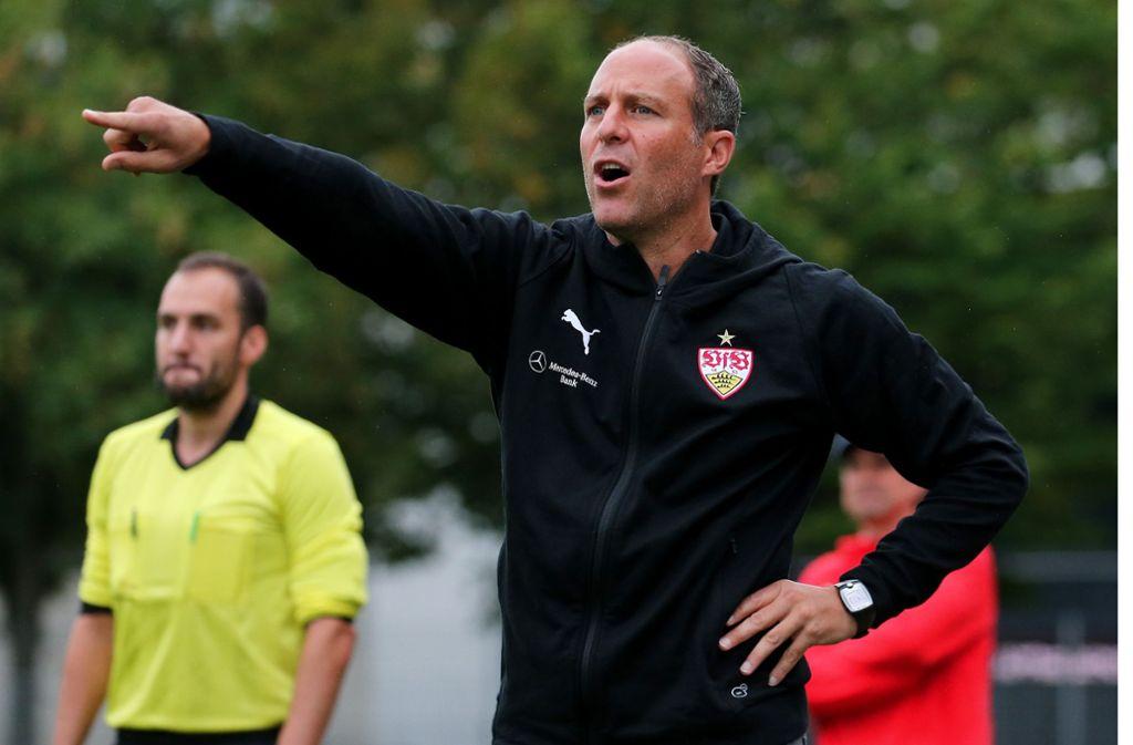 Gibt die Richtung beim VfB Stuttgart II vor: Trainer Marc Kienle. Foto: Baumann