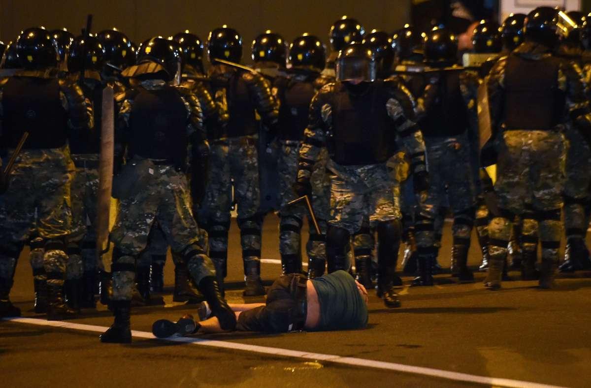 Die Menschenrechtsorganisation Wesna sprach am Abend von zunächst mehr als 50 Festnahmen. Foto: AFP/SERGEI GAPON