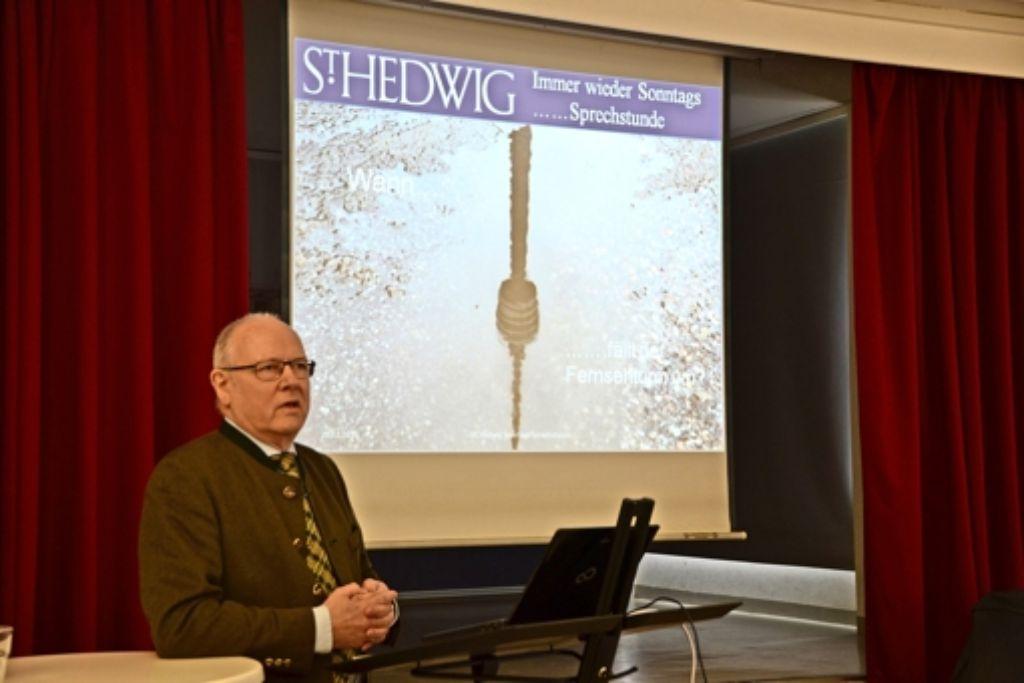 Hans-Peter Andrä referierte über das Stuttgarter Wahrzeichen. Foto: Fatma Tetik