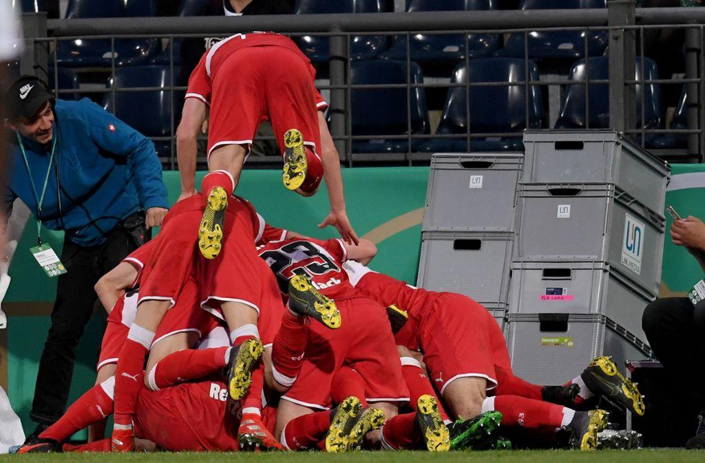Die U19 des VfB Stuttgart ist DFB-Junioren-Vereinspokalsieger 2019. Foto: Bongarts/Getty Images