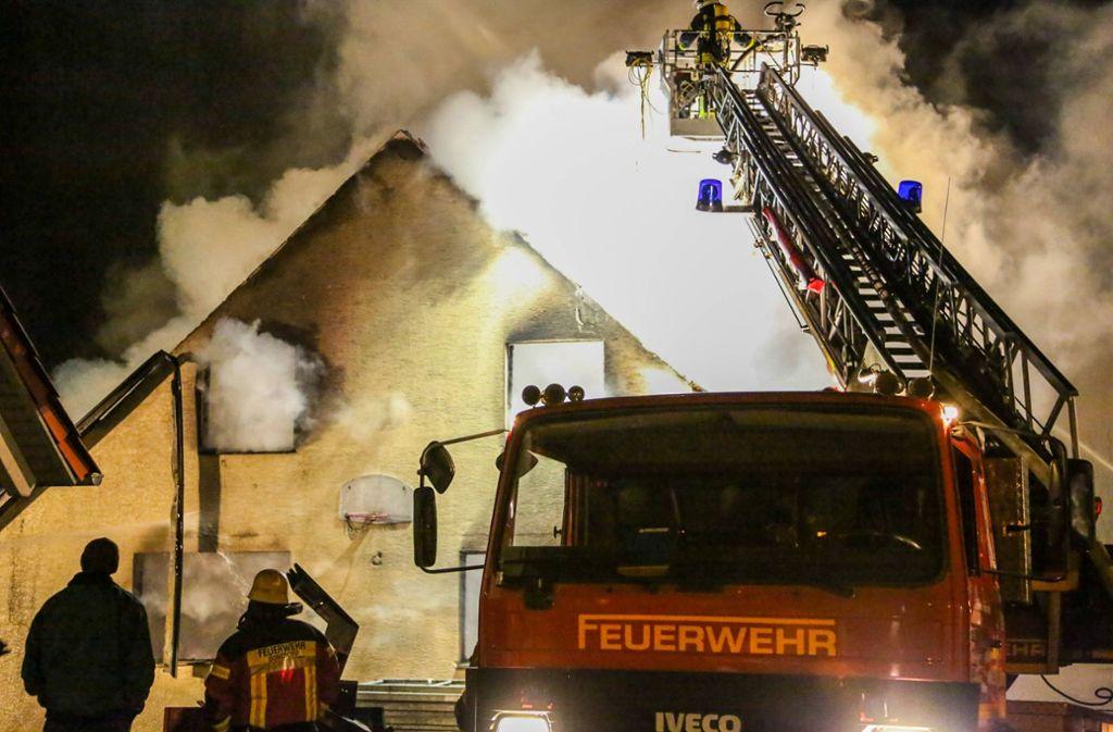 Der Lagerschuppen brannte fast vollständig ab. Foto: 7aktuell.de/Christina Zambito/7aktuell.de   Christina Zambito