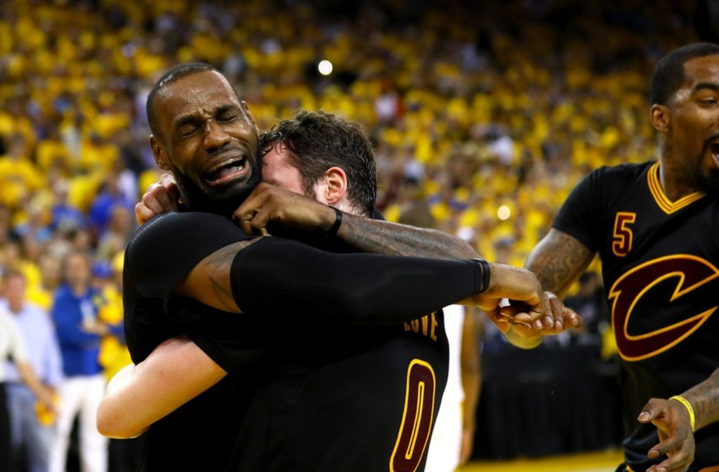 Überglücklicher Basketball-Superstar: LeBron James Foto: Getty