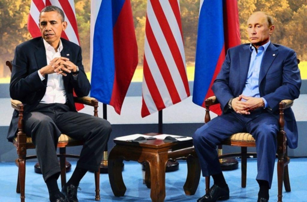 Barack Obama und Wladimir Putin haben sich zurzeit nichts zu sagen. Foto: dpa
