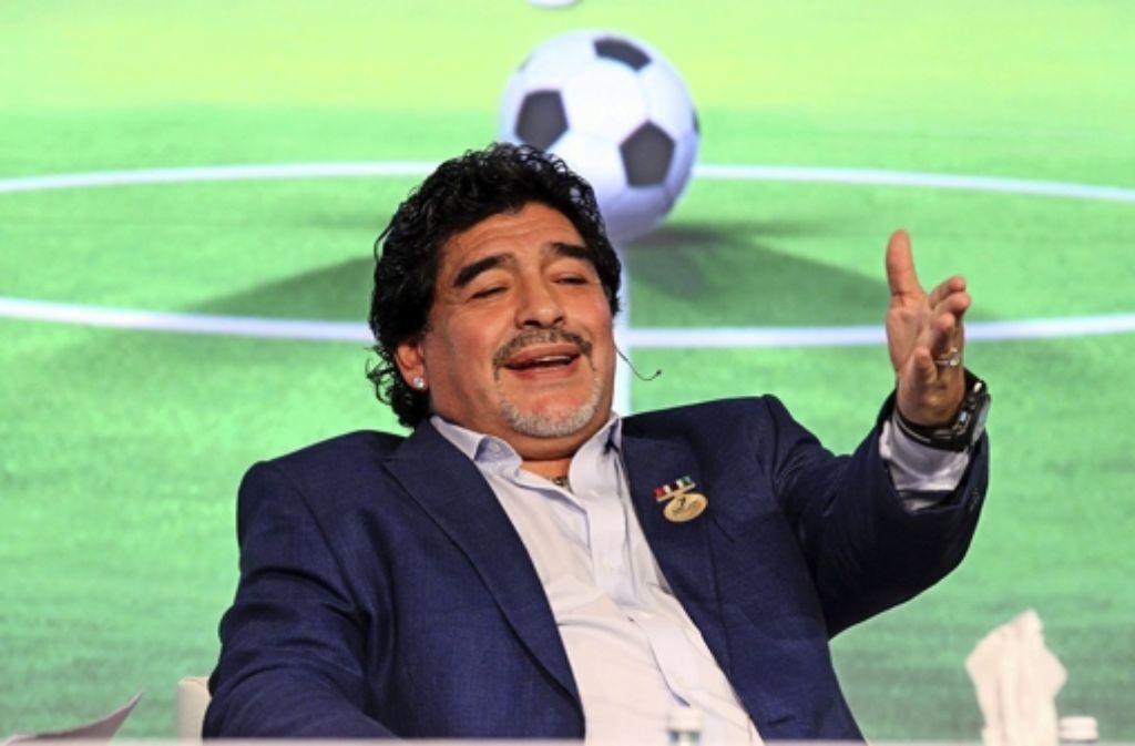 Kandidat für Blatter-Nachfolge: Diego Armando Maradona Foto: dpa