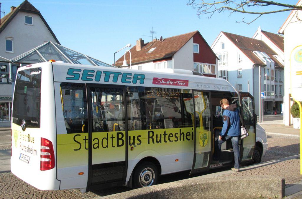 Rutesheim investiert viel in den Nahverkehr, unter anderem in den Stadtbus. Foto: nh/Stadt Rutesheim