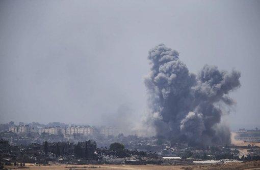 Die Gefechte im Gaza-Streifen gehen nach einer 16-stündigen Waffenpause unvermindert weiter. Foto: Getty Images Europe