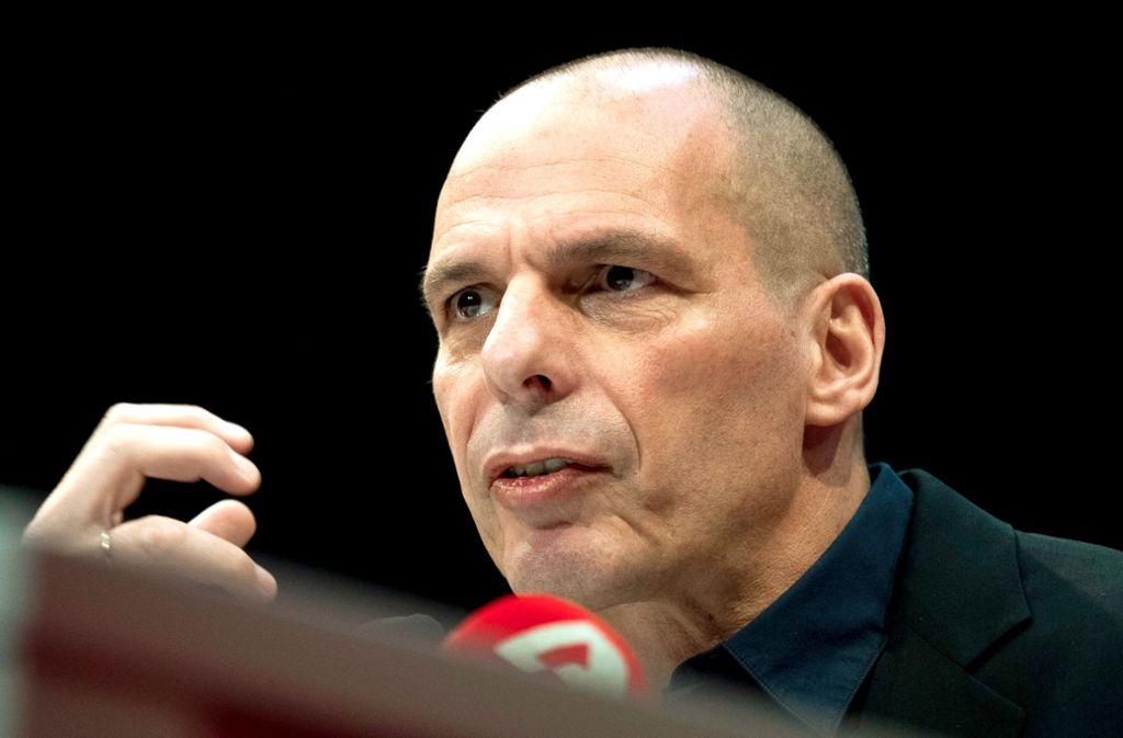 Wahlkämpfer Yanis Varoufakis Foto: dpa