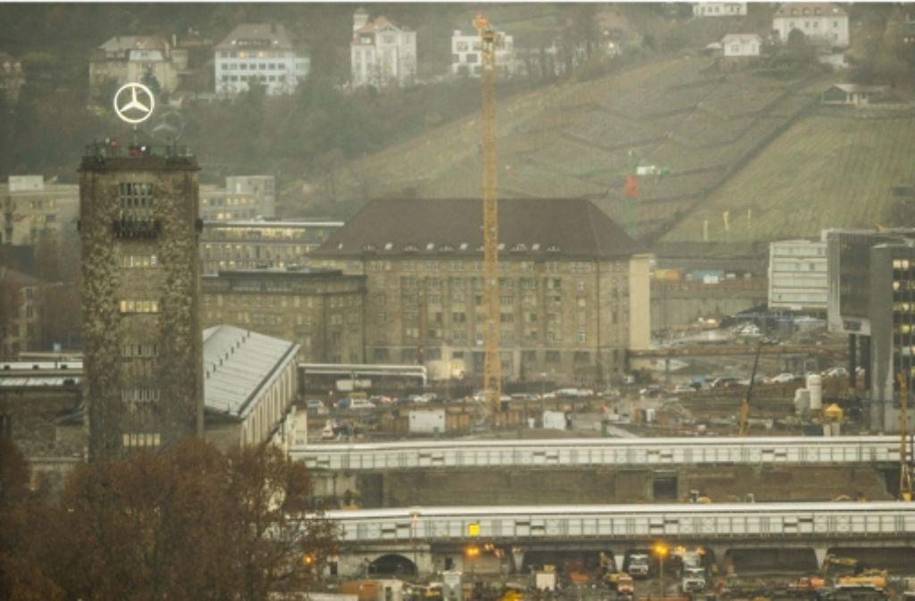 Die Baustelle für Stuttgart 21 zieht sich quer durch den Talkessel. Foto: Lichtgut/Max Kovalenko
