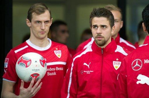 Georg Niedermeier (l.) soll am Samstag gegen Nürnberg auflaufen. Klicken Sie sich durch unsere Bildergalerie vom VfB-Spiel gegen Genk. Foto: dpa