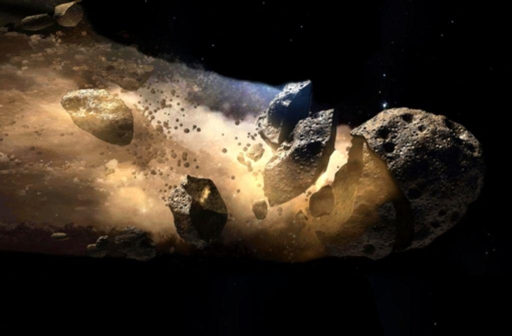 Viele Asteroiden sind unförmig und werden auch als fliegende Geröllhalden beschrieben. In der folgenden Fotostrecke stellen wir einige von ihnen vor. Foto: Nasa