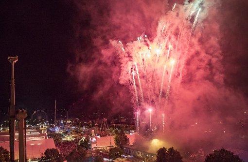 Volksfest endet mit großem Feuerwerk
