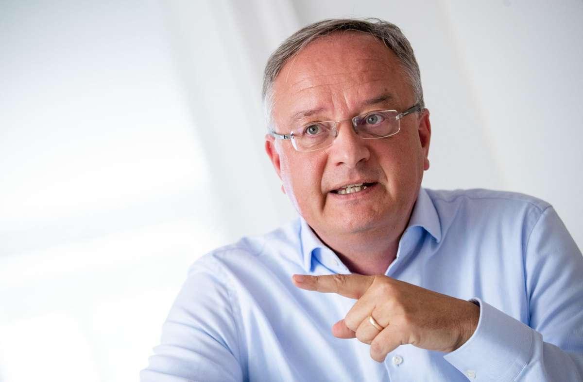 Andreas Stoch, Landesvorsitzender der SPD Baden-Württemberg. Foto: dpa/Christoph Schmidt