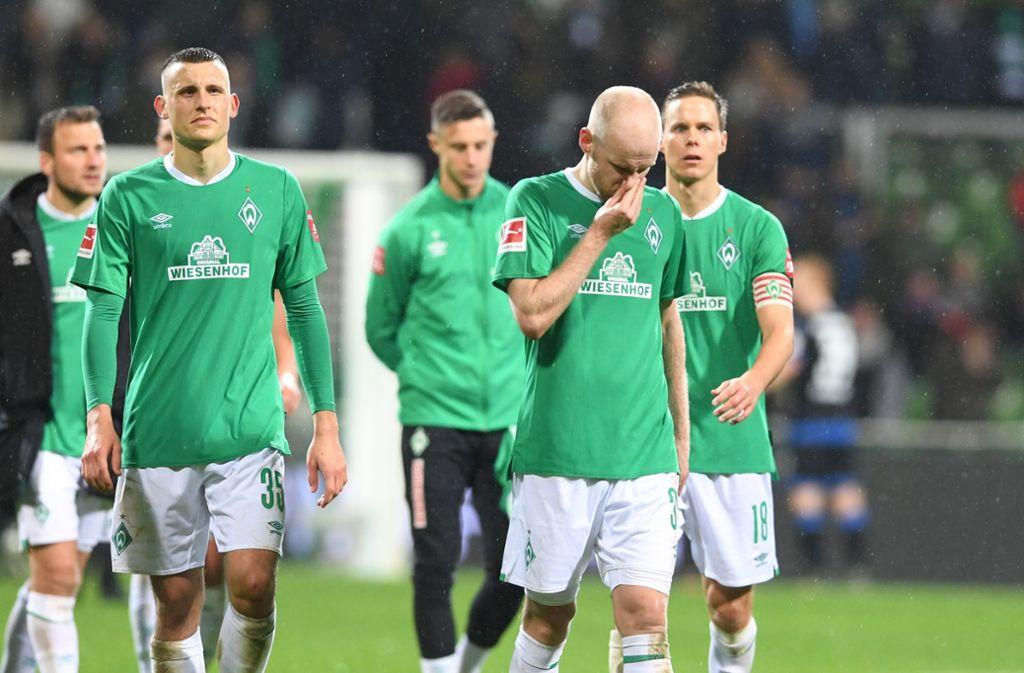 Werder Bremen erlebt einen weiteren Rückschlag in dieser bislang so verkorksten Saison Foto: dpa/Carmen Jaspersen