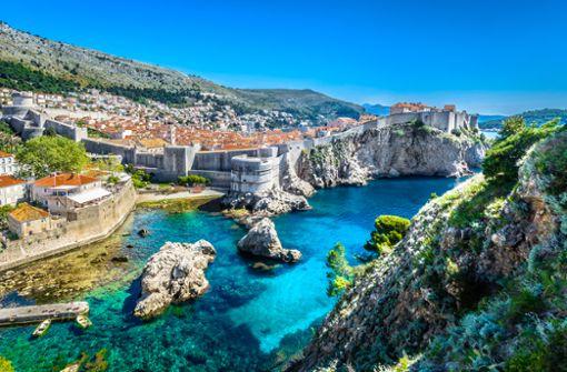 Panoramablick auf die kroatische Adriaperle Dubrovnik.