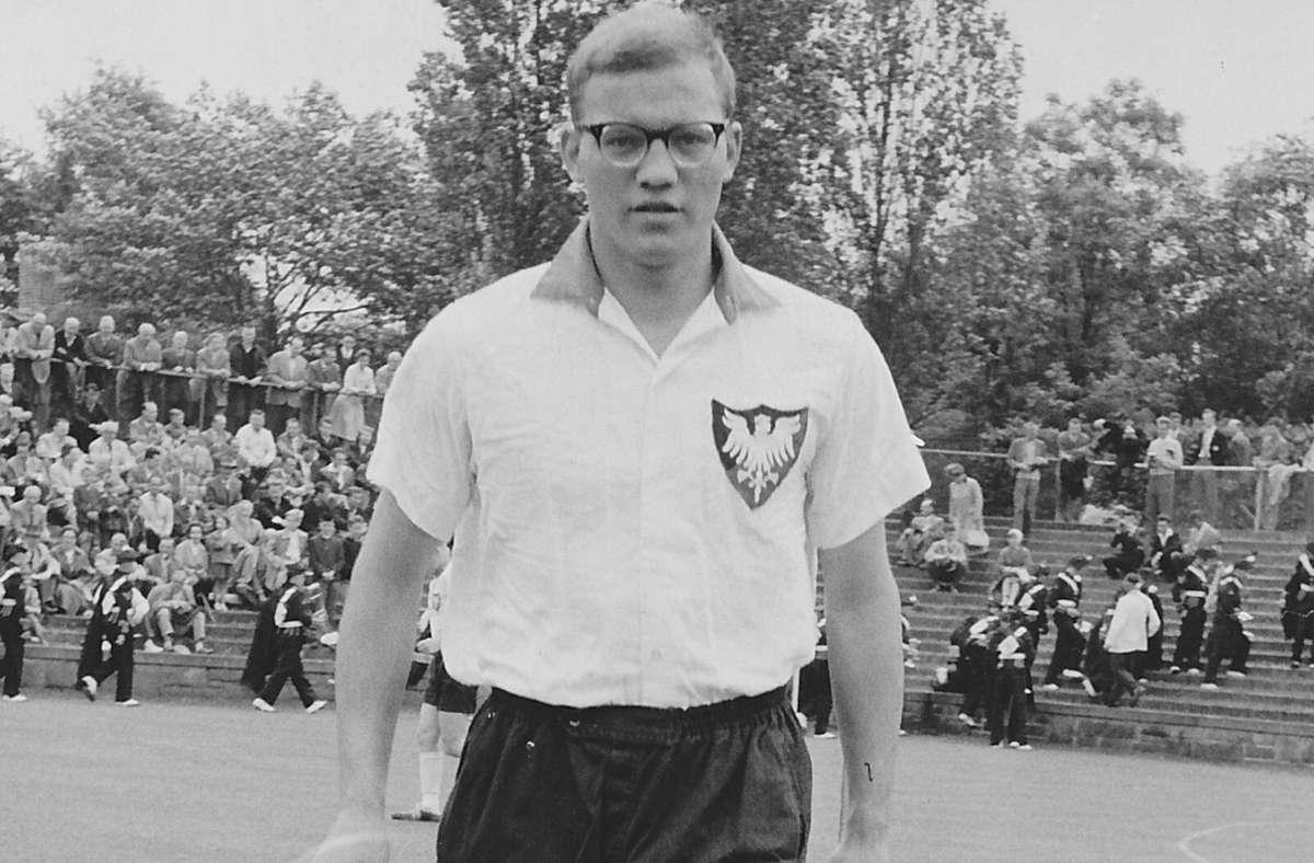 Utz Aichinger vor 61 Jahren als frisch gebackener Nationalspieler. Foto: privat