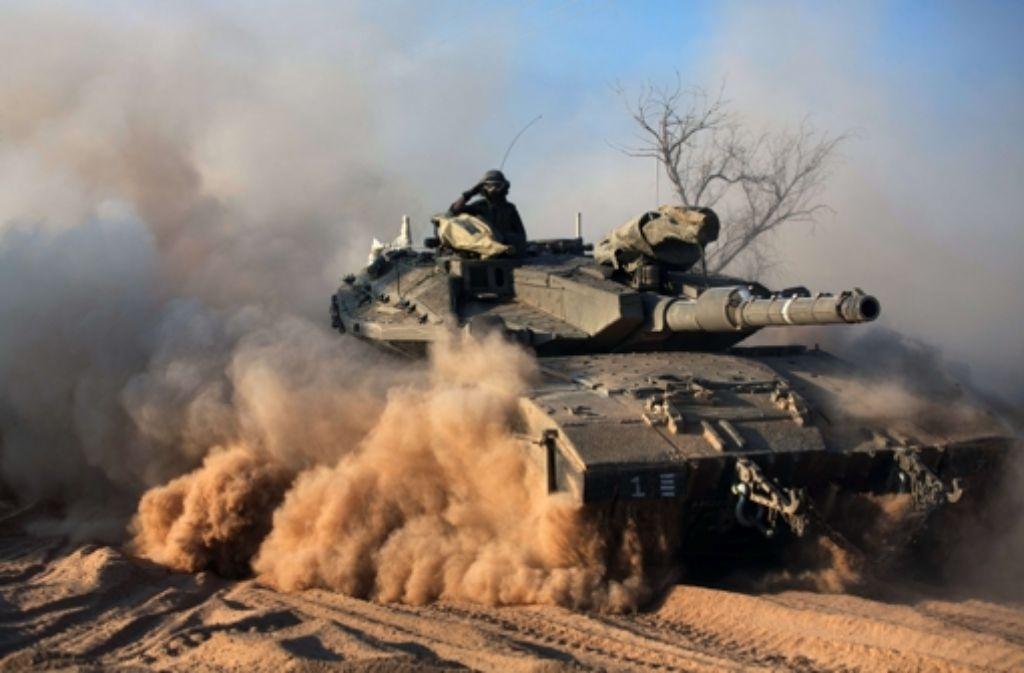 Israelische Panzer auf palästinensischem Gebiet: die Bildergalerie zeigt die Entwicklungen im Nahen Osten. Foto: AFP