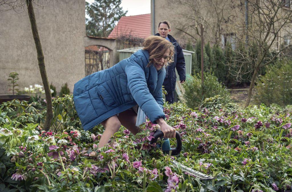 Andrea (Florentine Schara) weiß, wie sie sich am besten an Lupo (Arndt Schwering-Sohnrey) rächen kann.  Foto: MDR/Anke Neugebauer