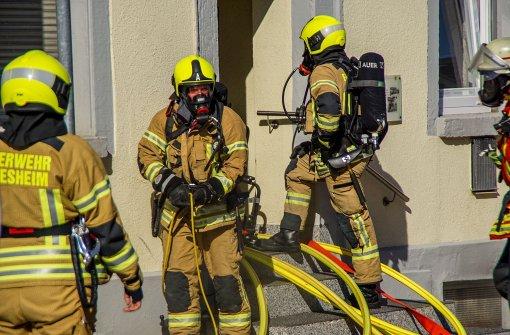 Im Keller brennt's: Die Kripo ermittelt