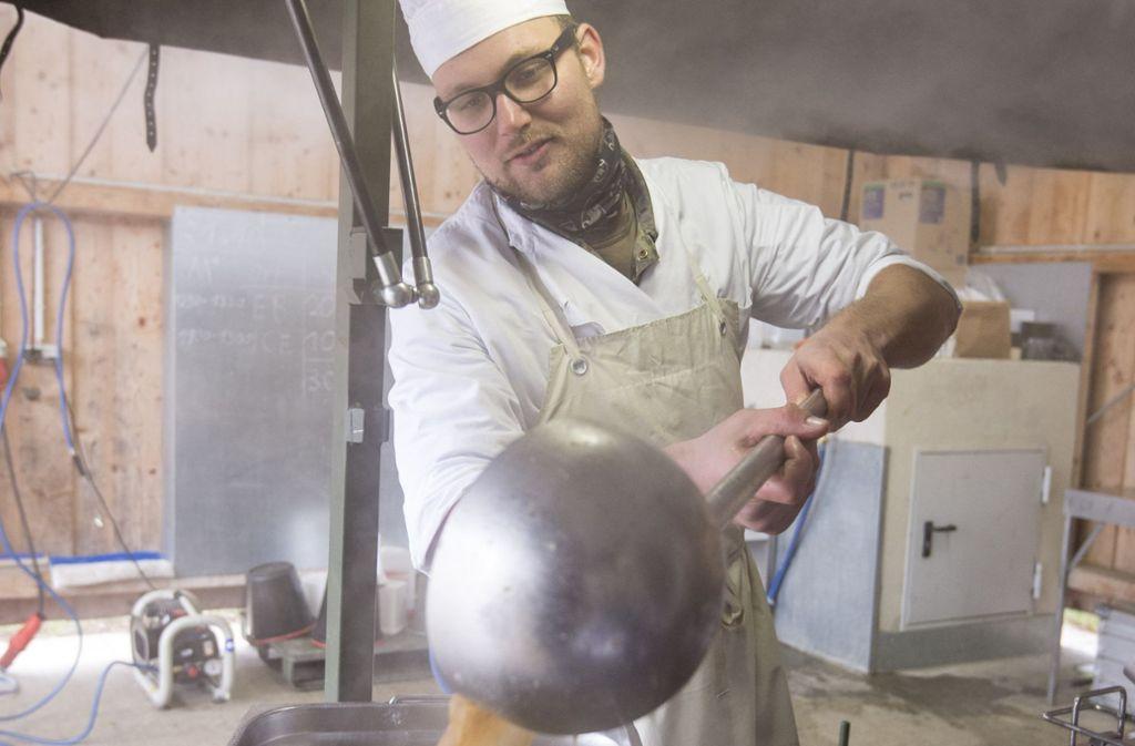 Bei Übungen wie hier in Stetten am kalten Markt wird in der Feldküche improvisiert. Foto: Martin Stollberg