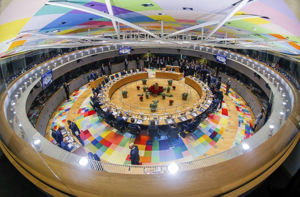 Die EU-Staaten wollen die Eurozone schützen. Foto: EPA POOL/AP