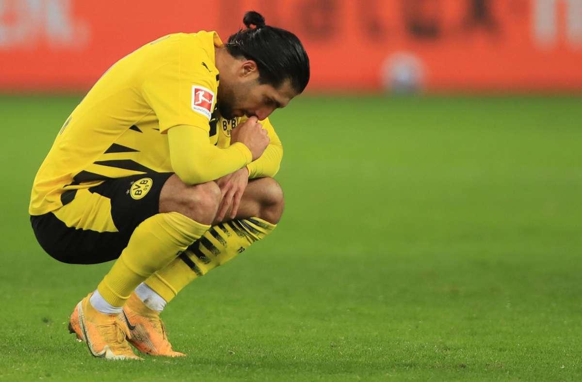 Auf der Suche nach der Form: Emre Can und Borussia Dortmund. Foto: AFP/Wolfgang Rattay