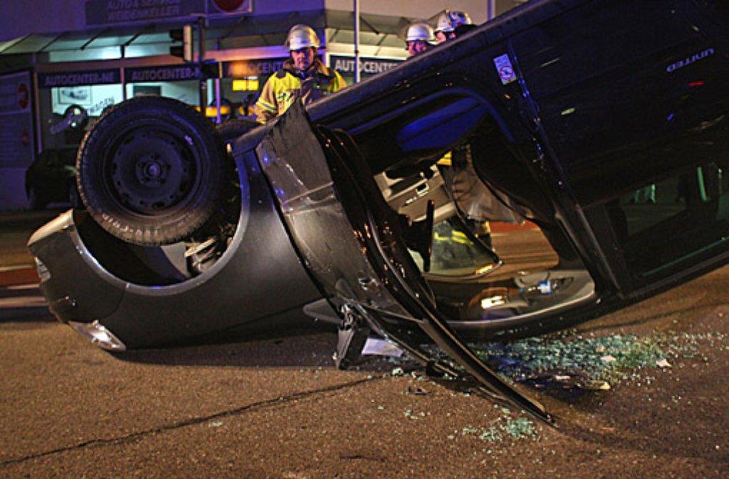 Bei einem Autounfall in Nürtingen im Kreis Esslingen wurden vier Frauen schwer verletzt. Foto: www.7aktuell.de/Eyb