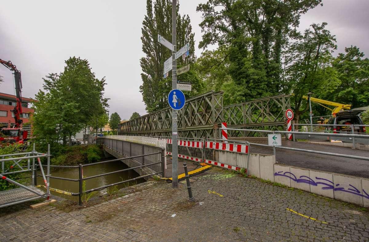 Baustelle Pulverwiesenbrücke. Foto: Roberto Bulgrin/bulgrin