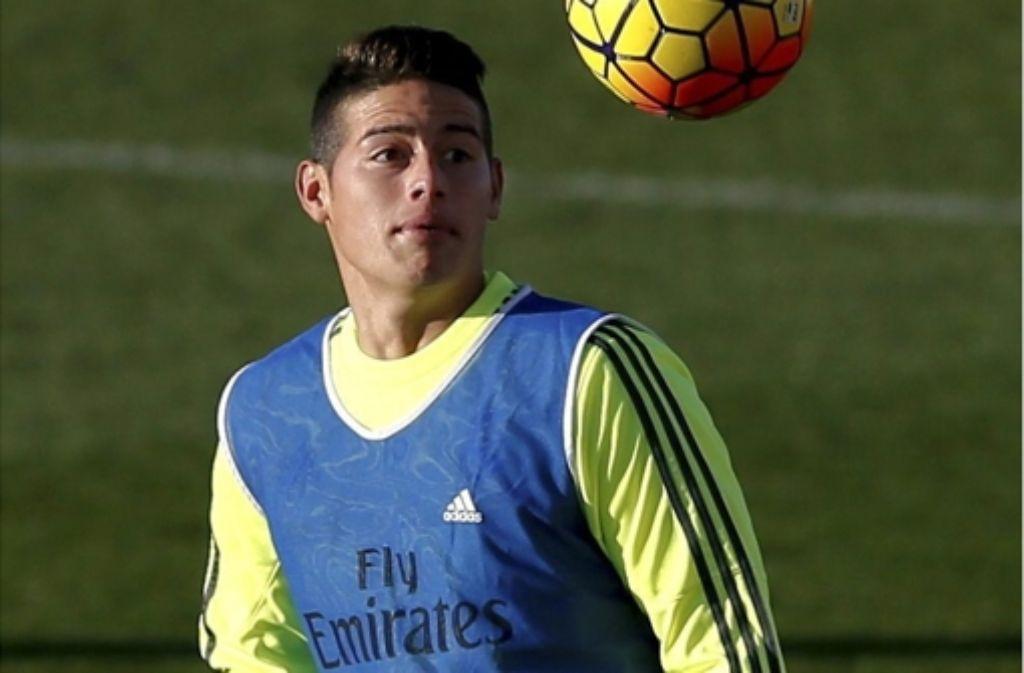 Auf dem Weg zum Training ist  der Real-Fußballer James Rodríguez Medienberichten zufolge in einer 100-er Zone mit mehr als 200 Kilometern pro Stunde gefahren. Foto: dpa