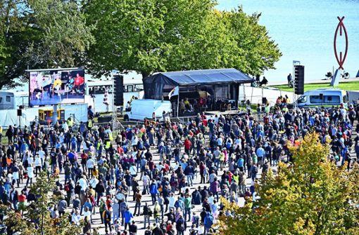 Mehr als 700  Corona-Demos im Südwesten