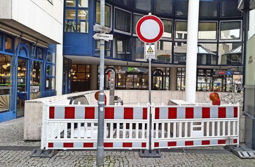 Stadtbahn-Zugang wegen Sturmschäden gesperrt