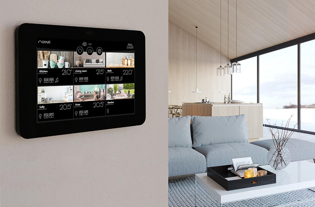 """""""DIVUS KNX IQ"""" - das KNX Touchpanel steigert den Wohnkomfort.  Foto: DIVUS"""