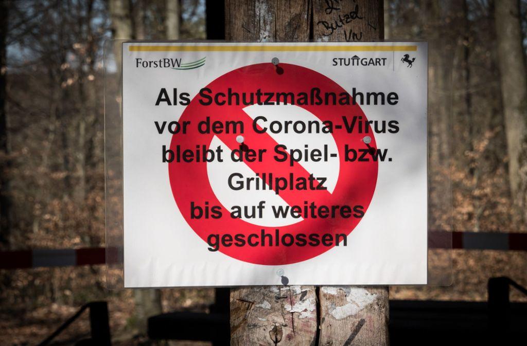 Auch Grillen ist verboten. Foto: Lichtgut/Achim Zweygarth
